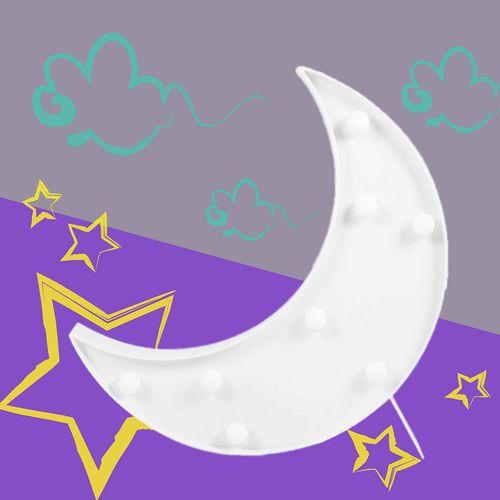 大力女|造型LED小夜燈-白月亮