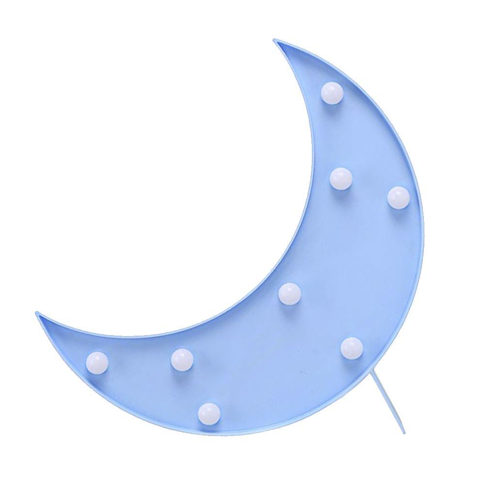 大力女|造型LED小夜燈-藍月亮