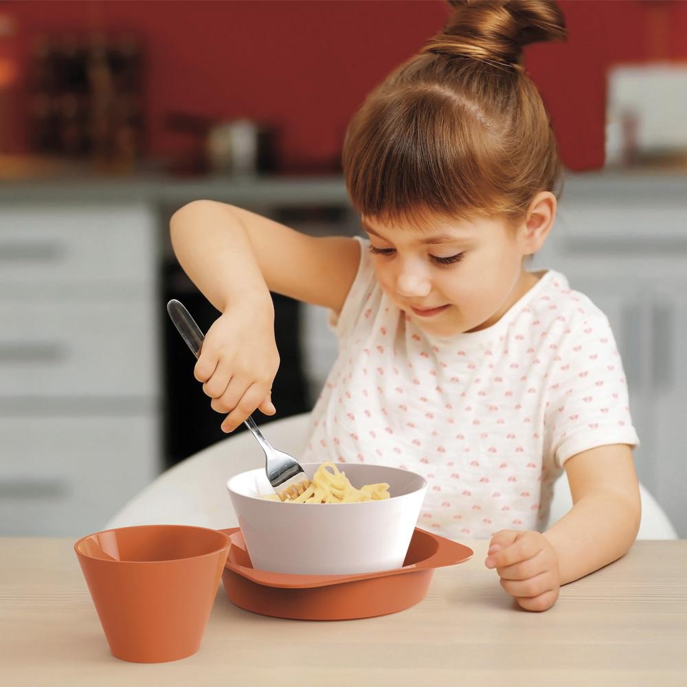 E-my|小孩無毒路錐造型碗盤組