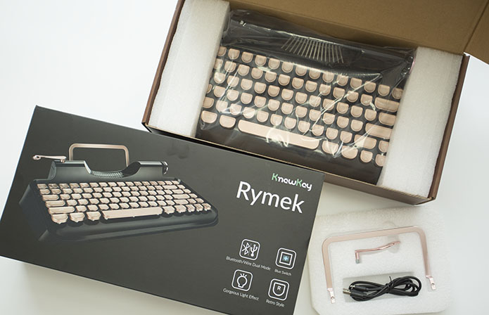 Rymek│復古藍芽機械鍵盤(中英文/青軸)-2入組