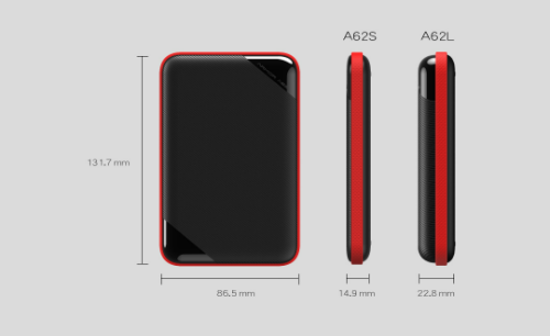SP廣穎|Armor A62S 1TB USB3.0 2.5吋軍規防潑水硬碟(薄型)