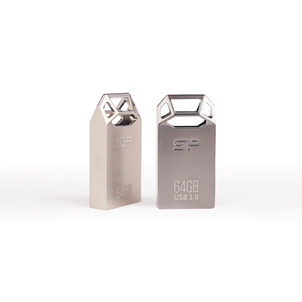 SP廣穎|Touch T50 鏤空雕刻工藝隨身碟-64GB(銀色)