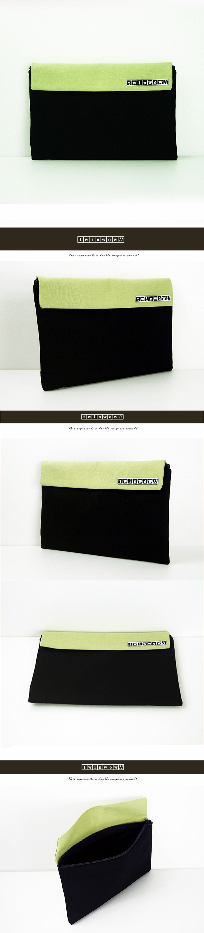 (複製)twinwow|時尚筆記 - 細緻質感平板包(時尚黑紫)