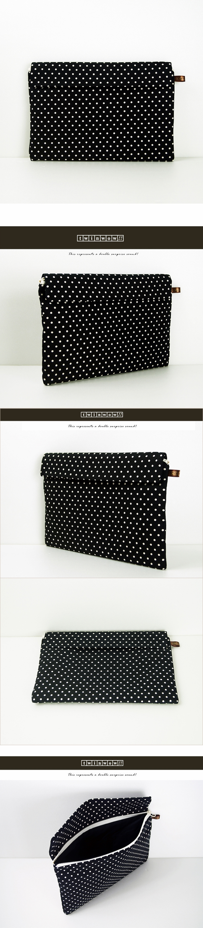 (複製)twinwow|時尚筆記 - 細緻質感平板包(時尚黑綠)