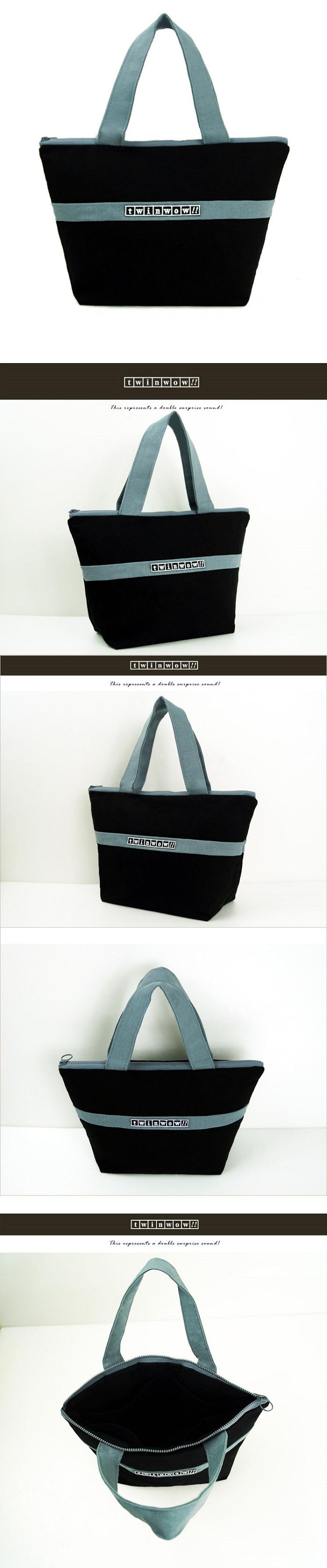 twinwow|優美典雅 - 細緻質感手提包(時尚黑灰)