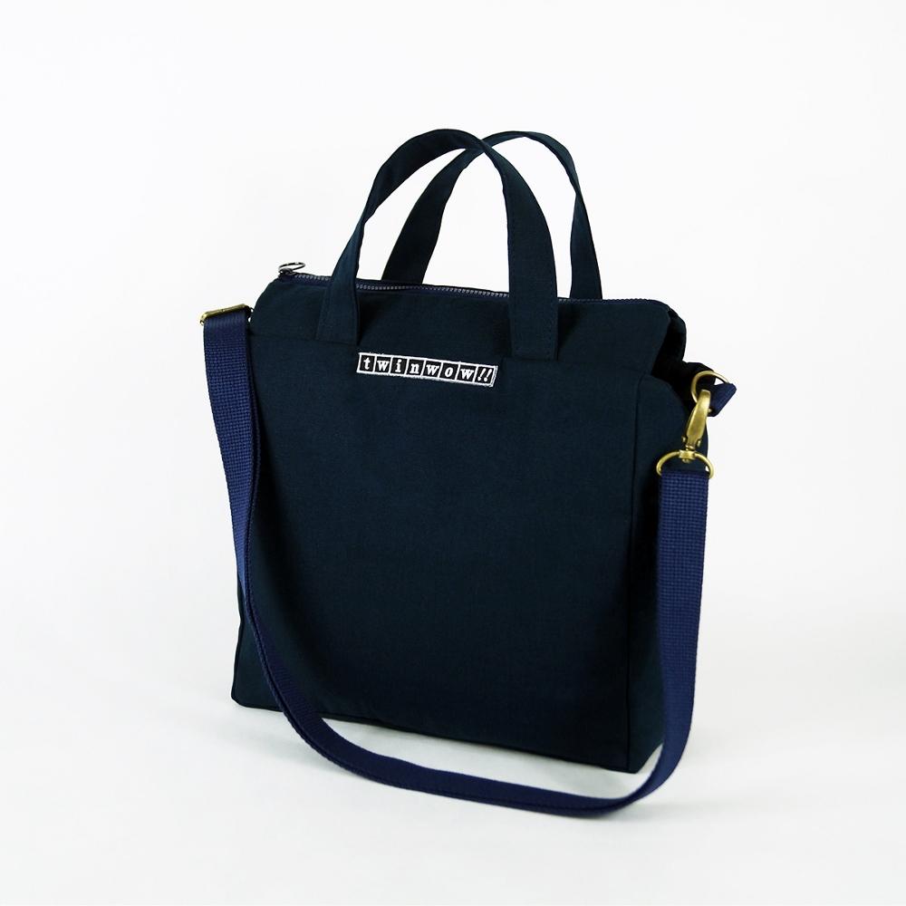 twinwow|時尚臻品 -細緻質感手提/側背包(深藍)