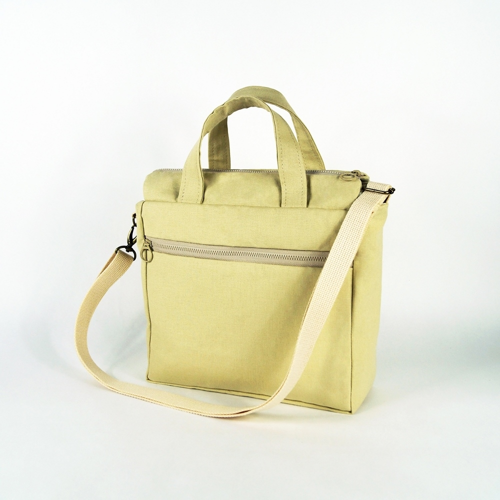 twinwow|時尚臻品 -細緻質感手提/側背包(米白)