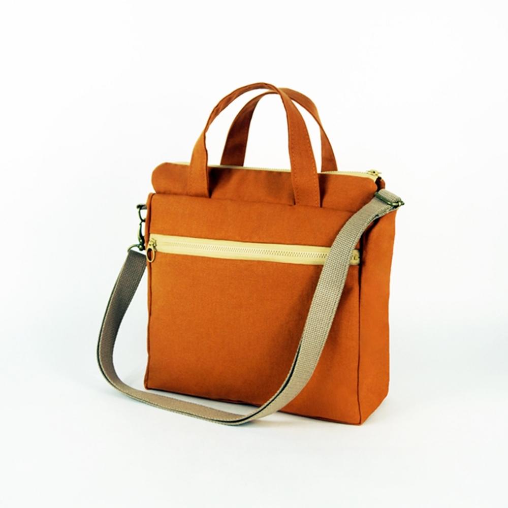 twinwow|時尚臻品 -細緻質感手提/側背包(暗橘)