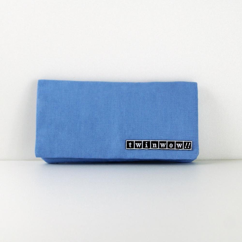 twinwow|優雅輕盈-細緻質感長夾/手拿包(藍天使)