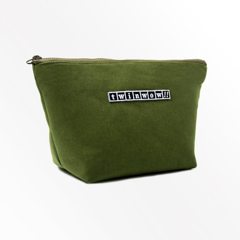 twinwow|貼心時尚 - 細緻質感化妝包(抹茶綠)