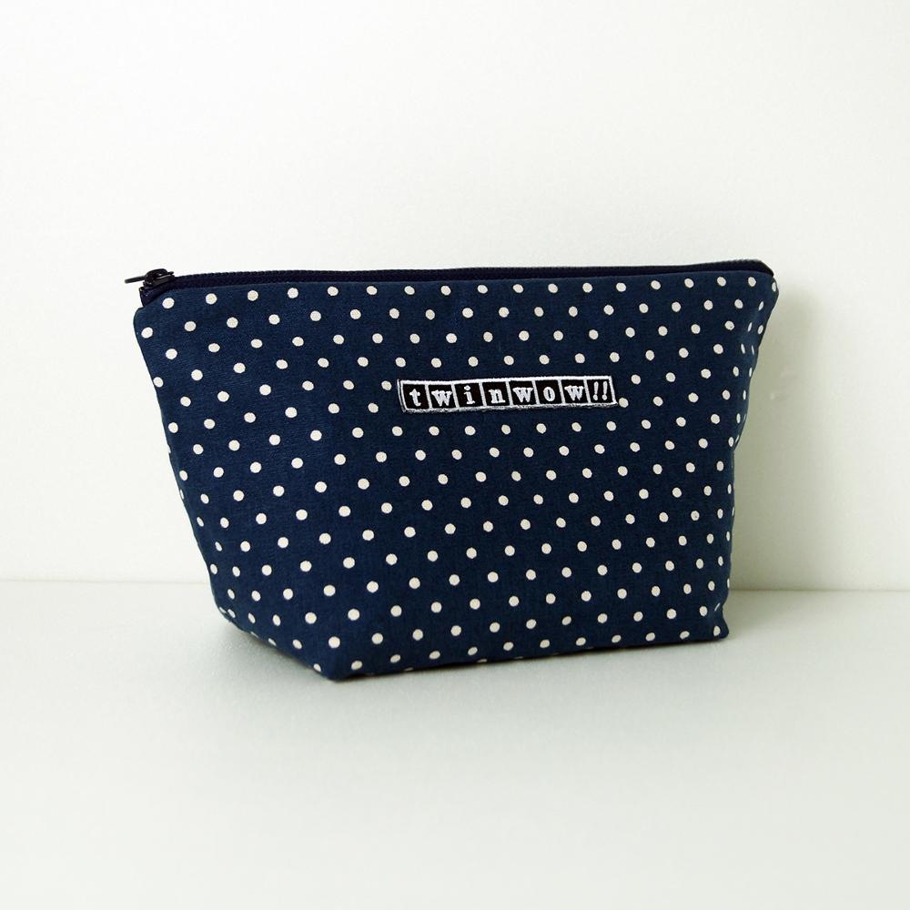 twinwow|貼心時尚 - 細緻質感化妝包( 點點藍)