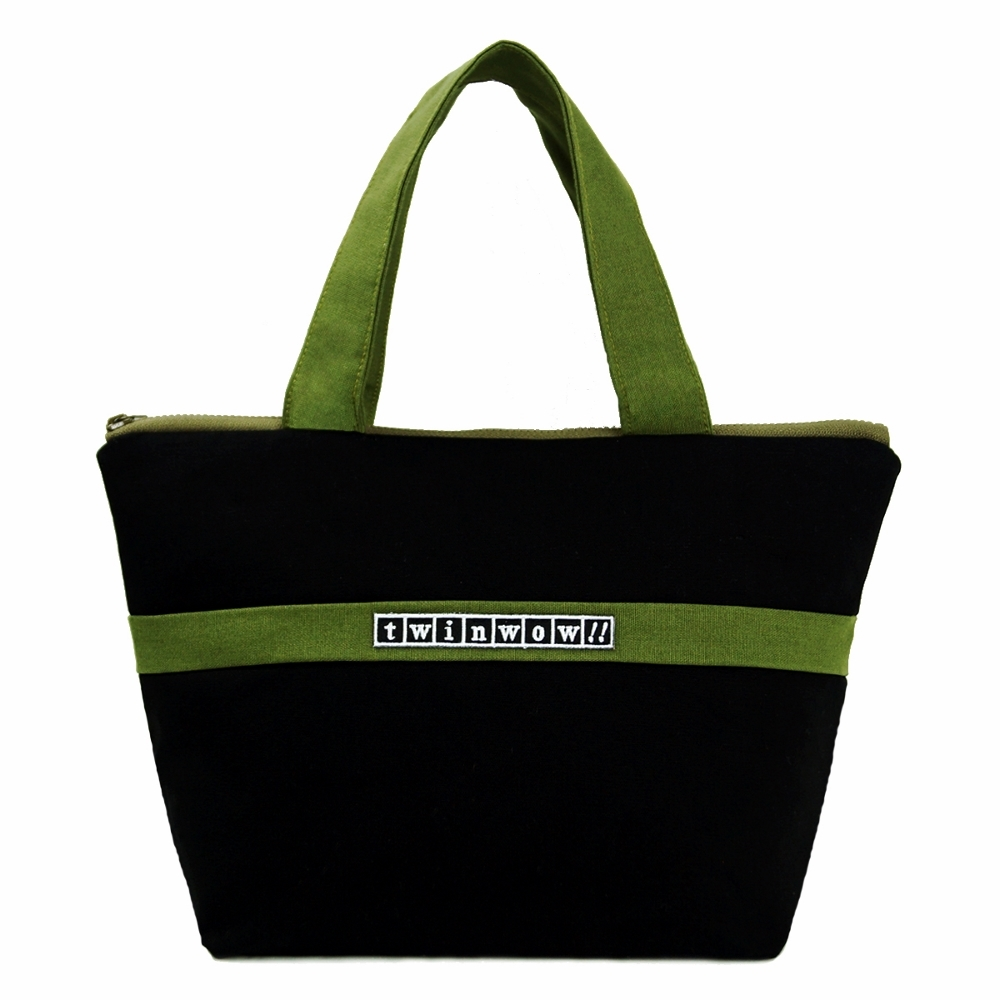 twinwow|優美典雅 - 細緻質感手提包(時尚黑綠)
