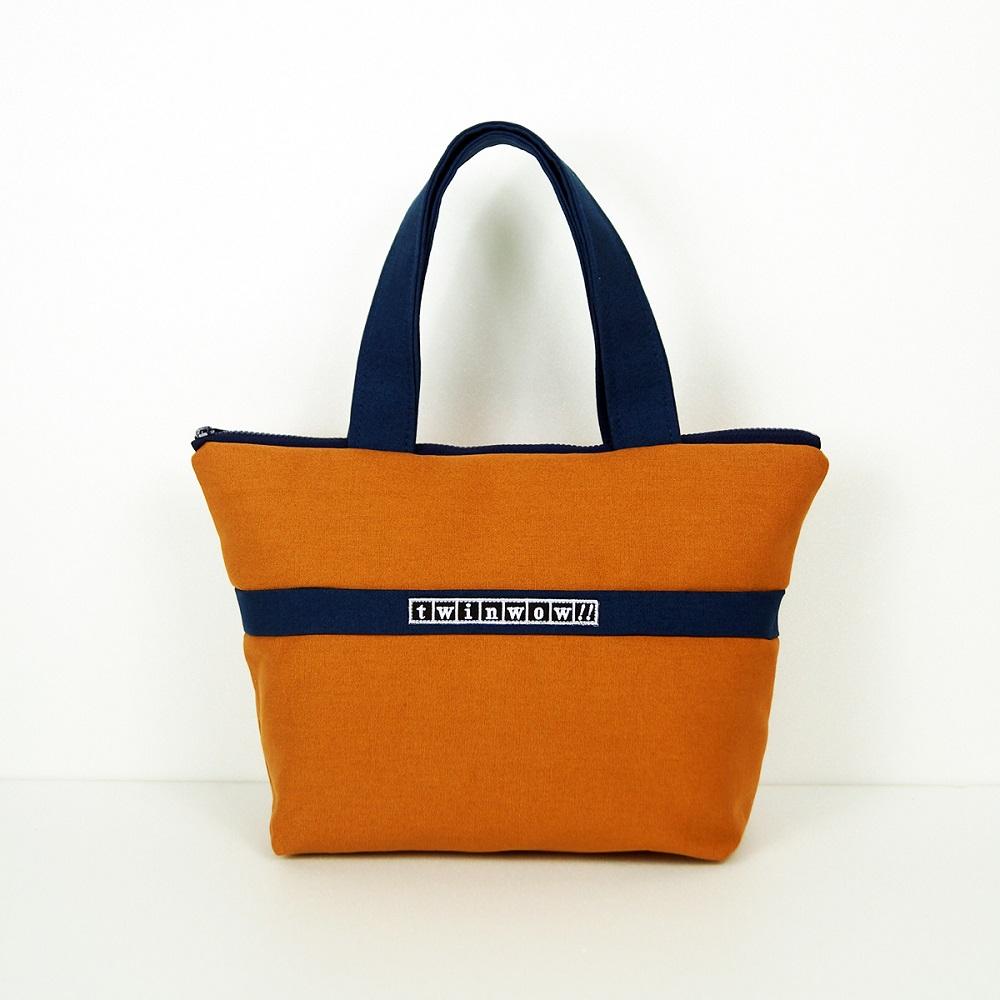 twinwow|優美典雅 - 細緻質感手提包(橘藍)