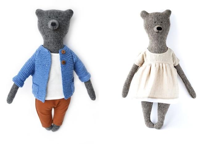 PK bears |葡萄園主馬丁熊+瑪莉熊40CM(附贈花束及立架)