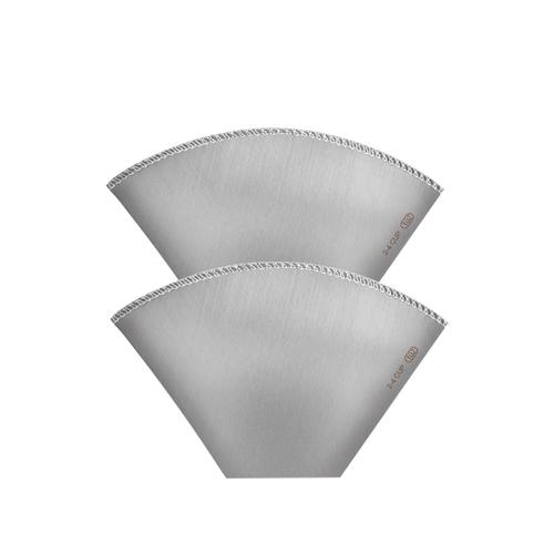 CUG|[扇形]不銹鋼濾紙2-4cup (2入) -可重複使用的濾紙