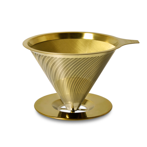 Driver|[鈦]黃金流速不銹鋼濾杯2-4cup