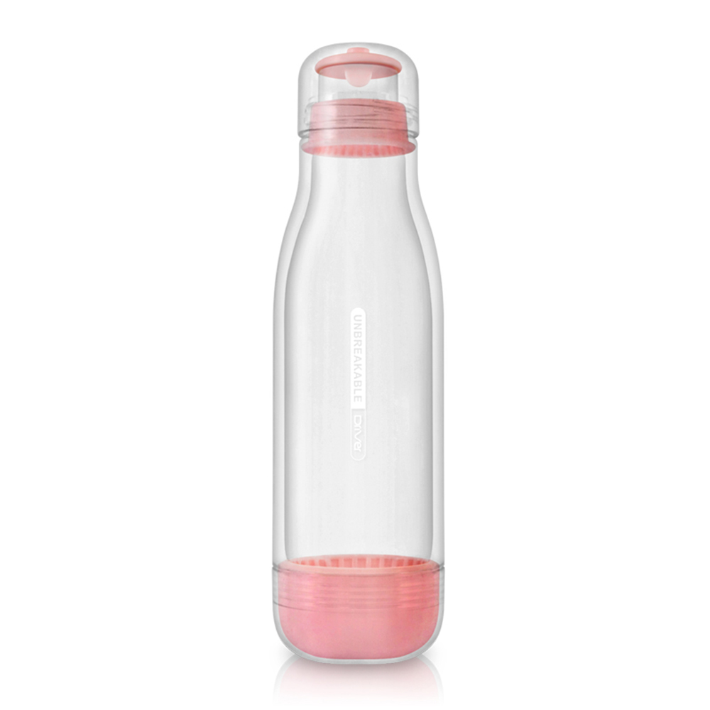 Driver|防撞玻璃水瓶500ml-粉紅