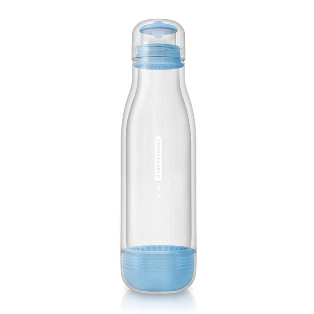 Driver|防撞玻璃水瓶500ml-水藍