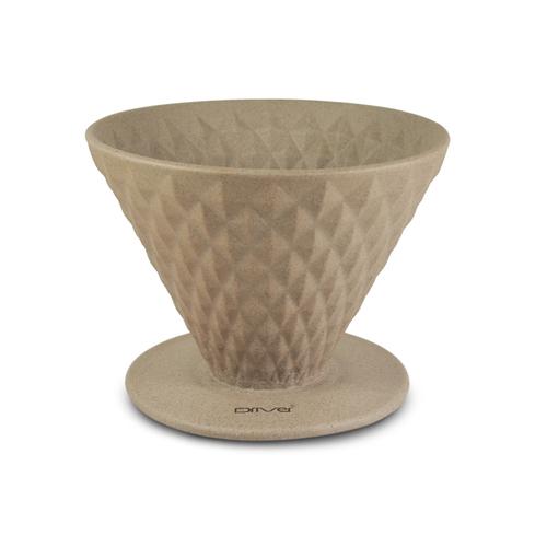 Driver|窖作陶瓷濾杯2-4cup (褐色) - 鑽石濾杯、砂岩陶土、高嶺土
