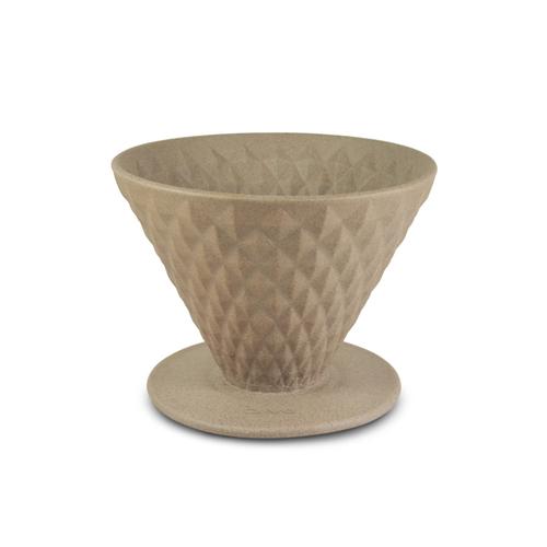 Driver|窖作陶瓷濾杯1-2cup (褐色) - 鑽石濾杯、砂岩陶土、高嶺土