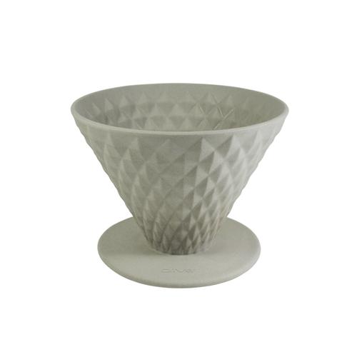 Driver|窖作陶瓷濾杯1-2cup (泥灰) - 鑽石濾杯、砂岩陶土、高嶺土