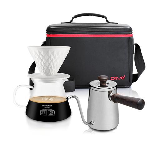 河野流 手沖咖啡濾杯壺組 (窖作1-2cup濾杯壺組+急須壺+攜帶包)
