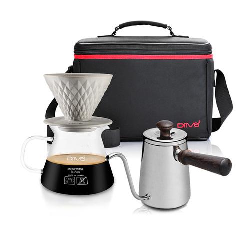 河野流|手沖咖啡濾杯壺組 (窖作1-2cup濾杯壺組+急須壺+攜帶包)