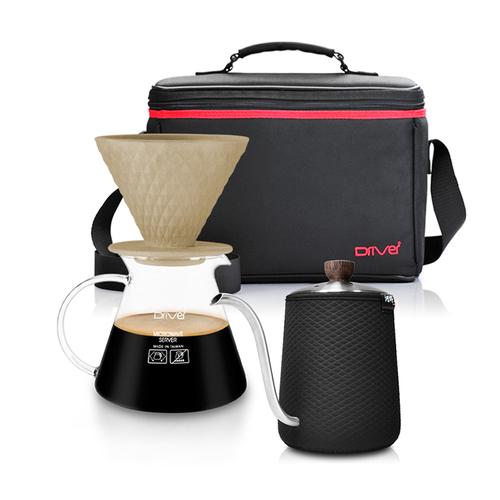 河野流|手沖咖啡濾杯壺組 (窖作2-4cup濾杯壺組+職人手沖壺+攜帶包)