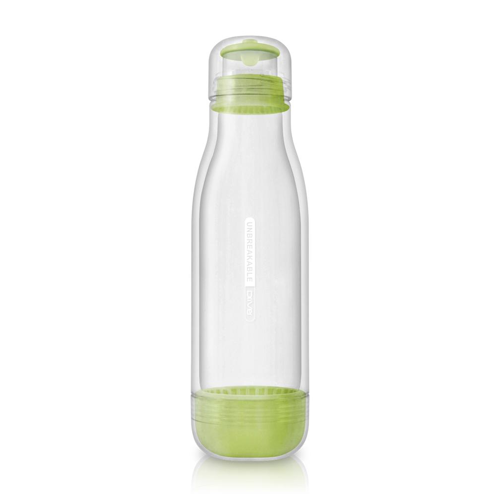 Driver|防撞玻璃水瓶500ml粉綠