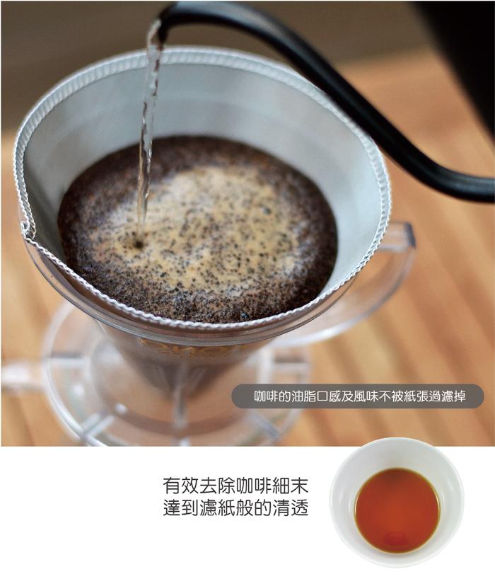 CUG|[錐形]不銹鋼濾紙1-2cup (2入) -可重複使用的濾紙