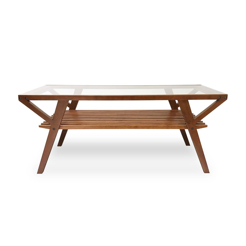 KEEN FORD DESIGN|實木茶几 Wooden Glass Living Table(DBR)