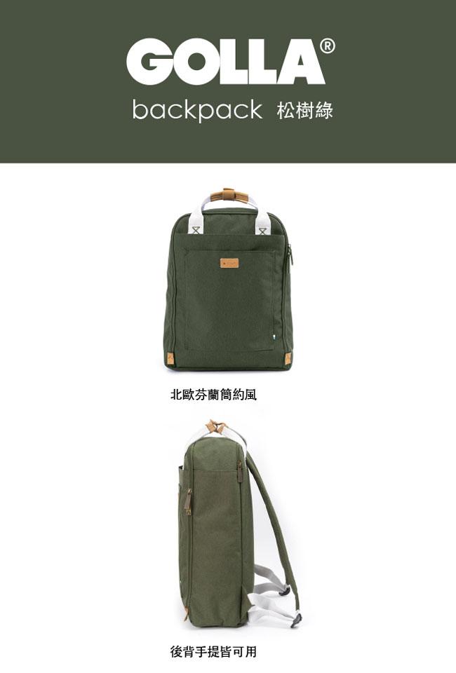 (複製)GOLLA | 北歐芬蘭時尚極簡後背包15.6吋 G1715-橘