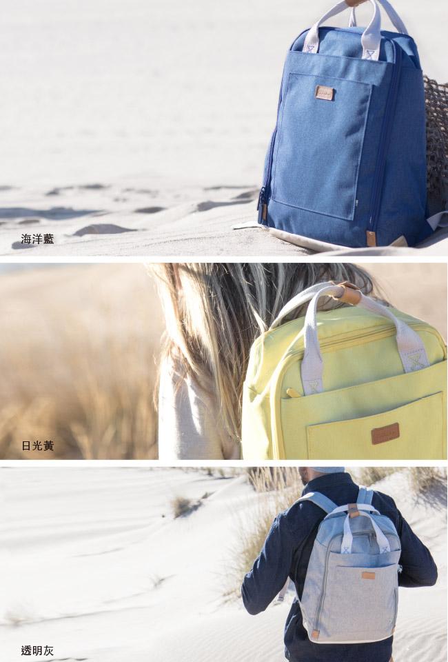 GOLLA | 北歐芬蘭時尚極簡後背包15.6吋 G1764-海洋藍