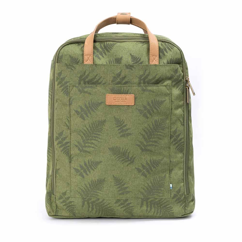 GOLLA | 北歐芬蘭時尚極簡後背包15.6吋 G1899-印花地衣綠