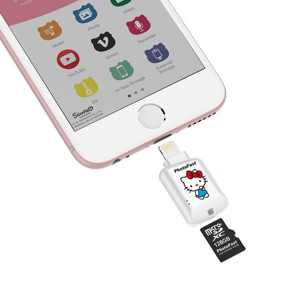 Photofast | Hello Kitty 蘋果microSD讀卡機  CR-8800 (不含記憶卡)