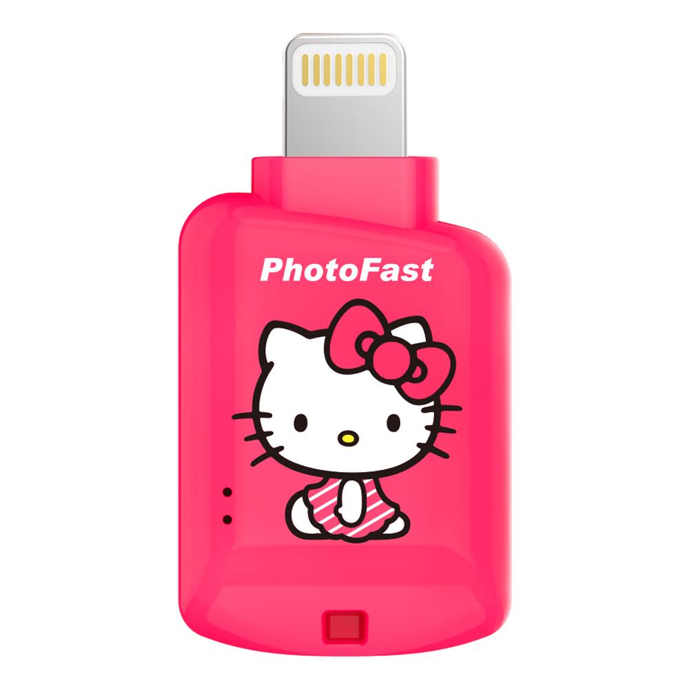 Photofast   Hello Kitty 蘋果microSD讀卡機  CR-8800 蜜桃紅(不含記憶卡)