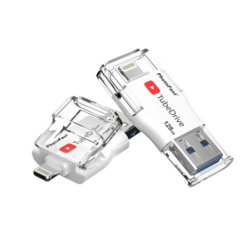 Photofast | i-FlashDrive雙頭龍 TubeDrive 128G  ( USB3.1 )