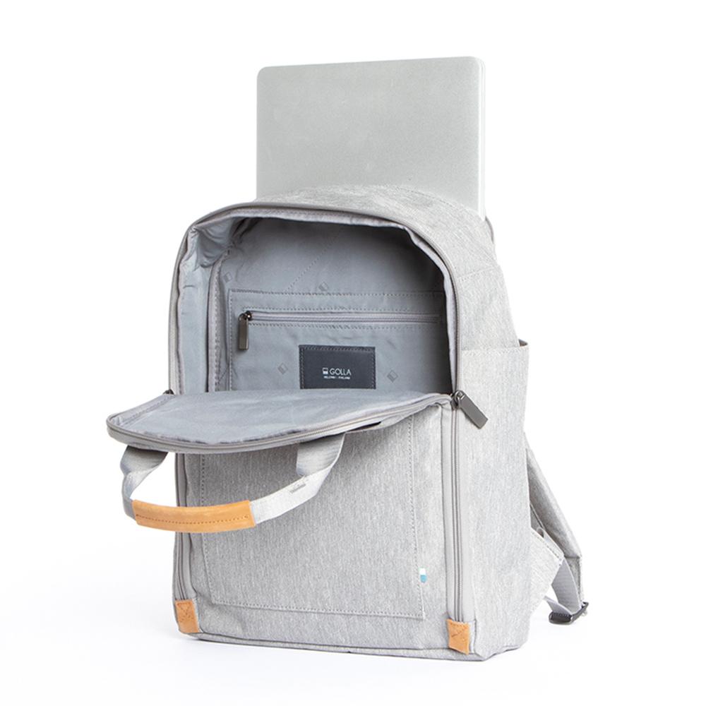 GOLLA | 北歐芬蘭時尚極簡後背包 13吋  G2156 透明灰