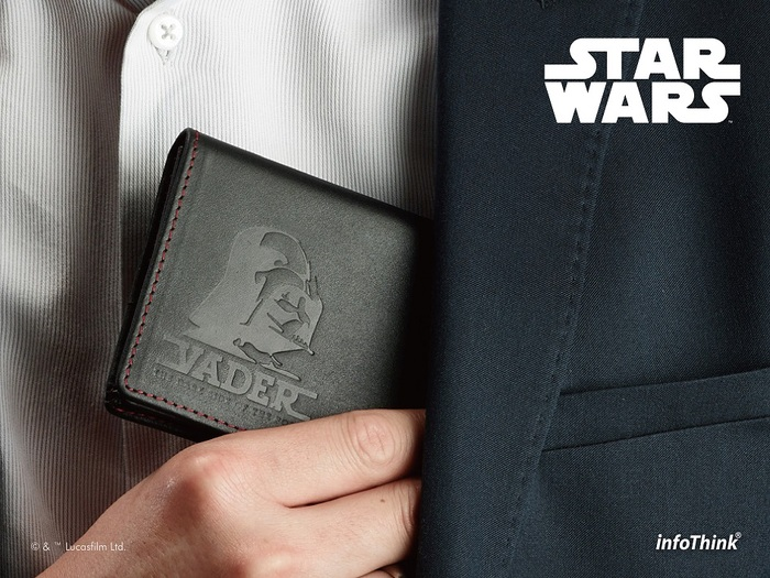 InfoThink|星際大戰黑武士皮革名片夾隨身碟16GB