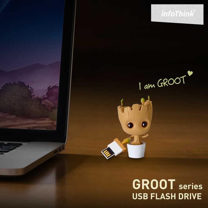 InfoThink|星際異攻隊GROOT系列造型隨身碟 8GB