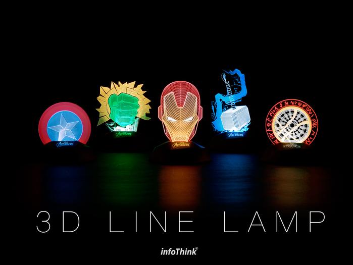 InfoThink 美國隊長3D立光燈