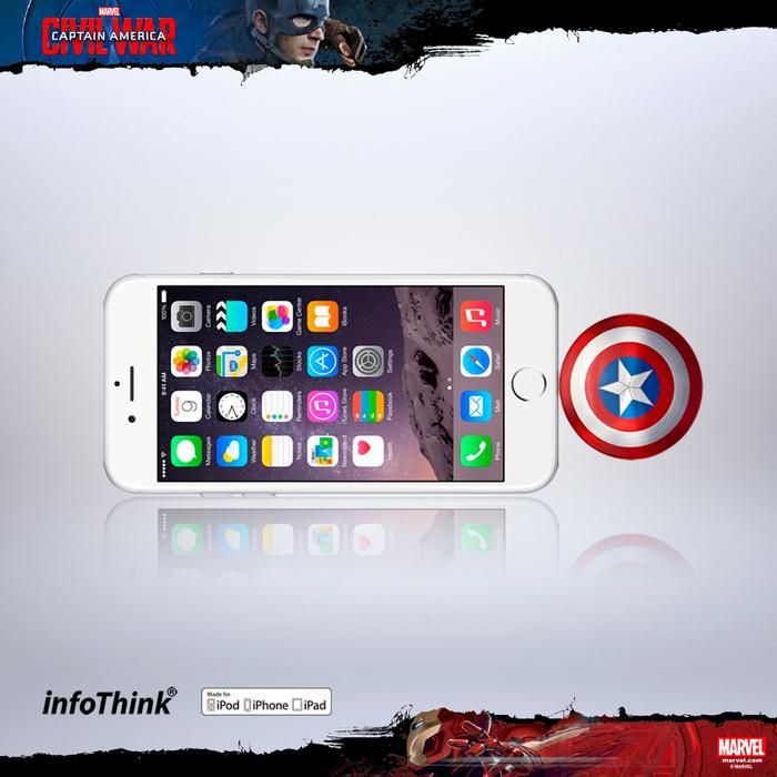 (複製)InfoThink|美國隊長超薄盾牌TYPE C / USB雙頭隨身碟32GB - 戰損版
