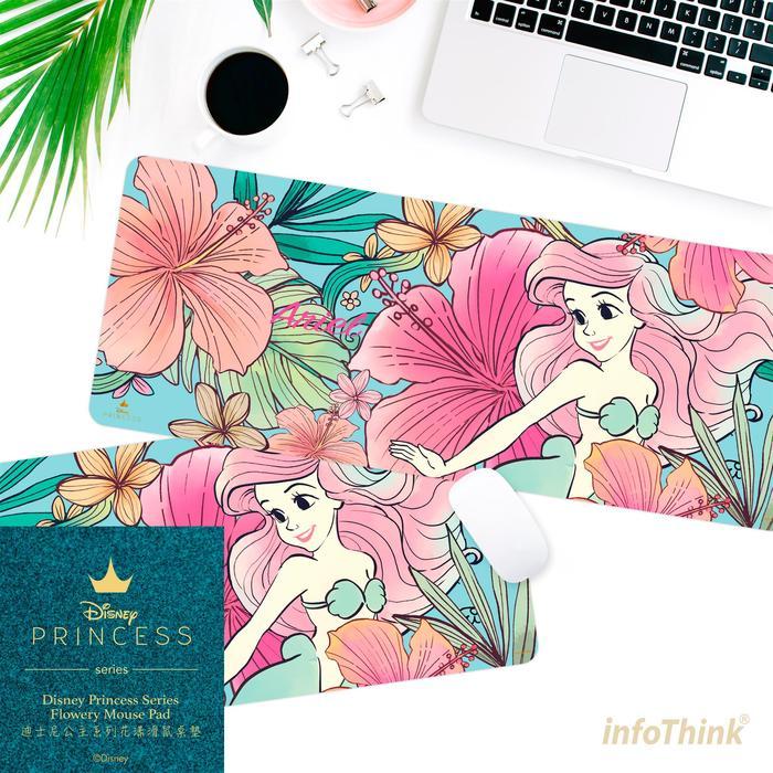 InfoThink|迪士尼公主系列花漾滑鼠桌墊-愛麗兒