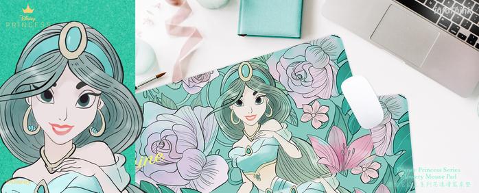 InfoThink|迪士尼公主系列花漾滑鼠桌墊-茉莉