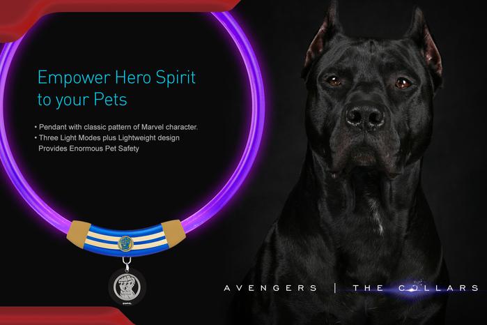 【ENDGAME限定】InfoThink|MARVEL復仇者聯盟寵物LED燈環-鋼鐵人