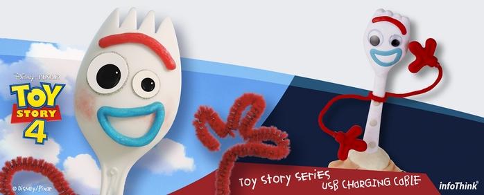 InfoThink|迪士尼玩具總動員系列叉奇Type-C快充傳輸線