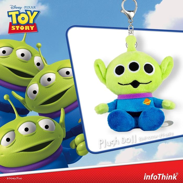 InfoThink|迪士尼玩具總動員系列絨毛藍牙喇叭-三眼