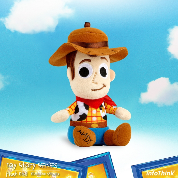 InfoThink|迪士尼玩具總動員系列絨毛藍牙喇叭-胡迪