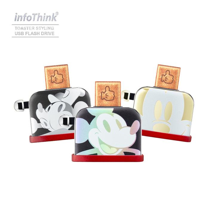 InfoThink|米奇系列烤吐司機造型隨身碟(90周年紀念金色款)-32GB