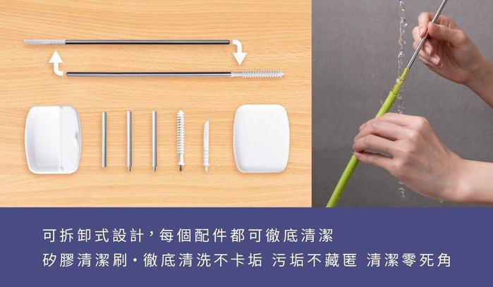 InfoThink|SUBA BOX 六合一環保吸管隨身盒(蜜桃粉)